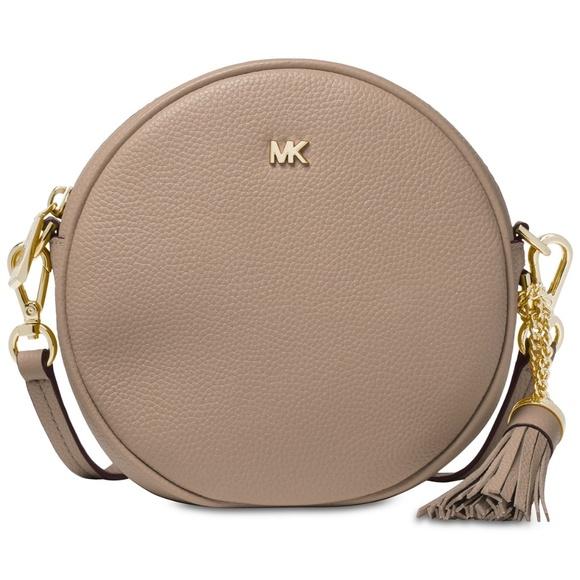aab468114456 Michael Kors Bags | Nwt Leather Round Bag Truffle Gold | Poshmark